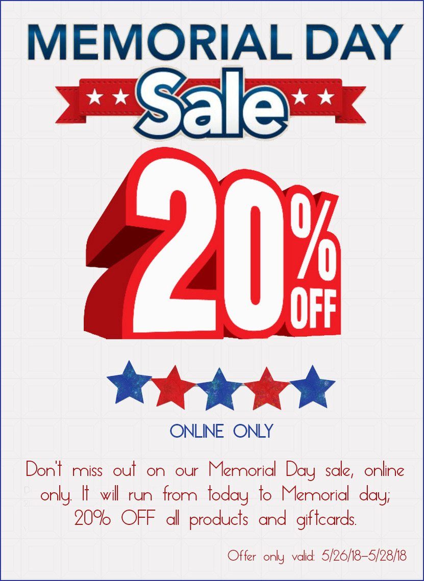 Memorial Day Special without website